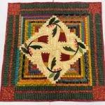 "'Cotton Blossoms' Quilt Kit by Kim Diehl - 24.5""x24.5"""