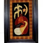 "'Crow on Gourd' Hanging Wool Applique Kit - 7"" x 12"""
