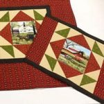 "'Headin' Home' Table runner( 49"" x 25"") & Set/4 Placemats Kit"