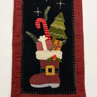 Santas Jolly Boot Wool Applique Kit