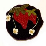 Strawberry Pincushion Wool Applique Kit