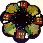 Winter Cabin Table Mat Wool Applique Kit