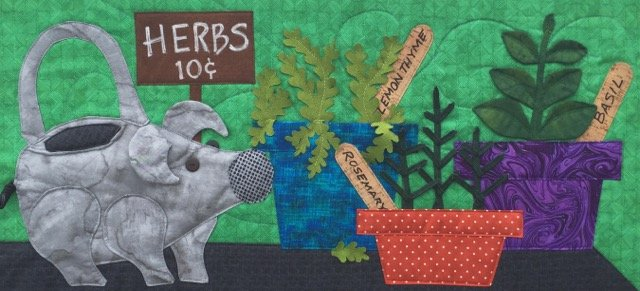 Hog Happy for Herbs - Row by Row Quilt Kit 2019