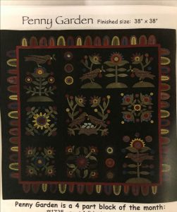 Penny Garden Wool Applique Block of the Month