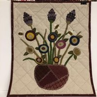 Crazy Blooms Wall Hang Wool Applique Kit