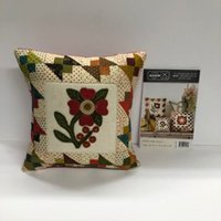 Flower Patch Pillows Wool Applique Kit