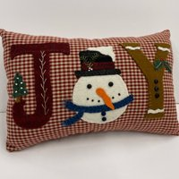 Joy Pillow Wool Applique Kit