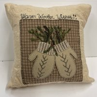 Mittens Pillow Wool Applique Kit