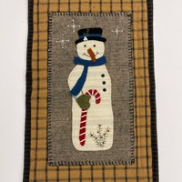 Snowman and Candy Cane Wool Applique Kit