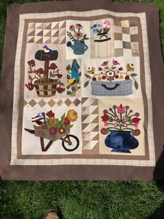 Wool applique block of the month quilt